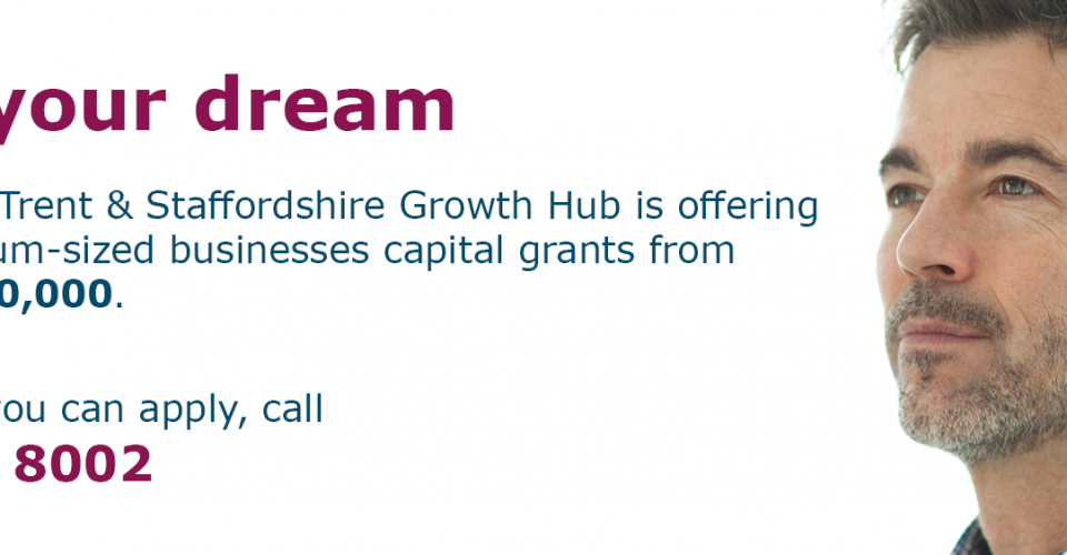 Grants available for Staffordshire business growth