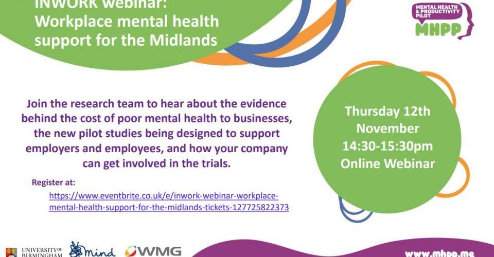 INWORK Webinar: Workplace mental health support for the Midlands