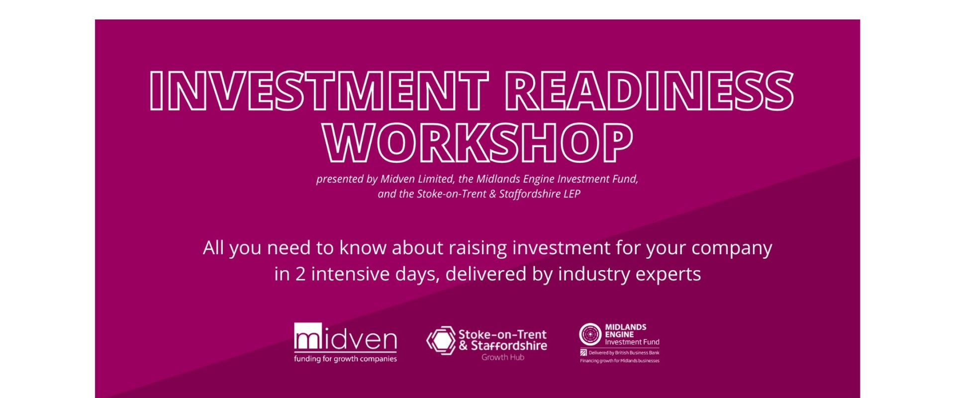 Investment Readiness Workshop: Day 1